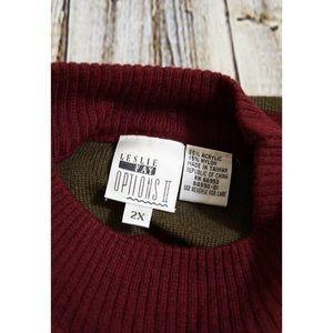 Leslie Fay Sweaters Womens Sweater 2x Freddy Krueger Stripe Colors